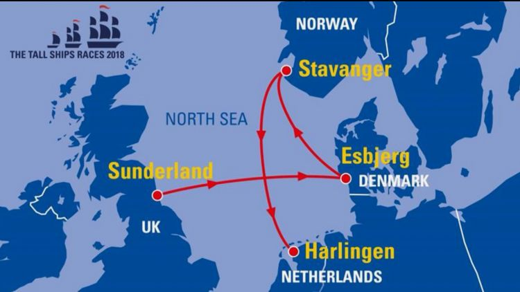 Tall Ships Race Route