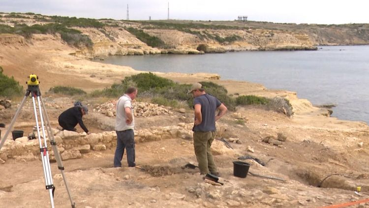 British archaeologists explore ruins of Roman port at RAF Akrotiri in Cyprus
