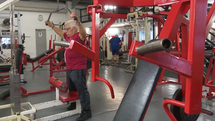 80-year-old Brian House still works out at his gym in York