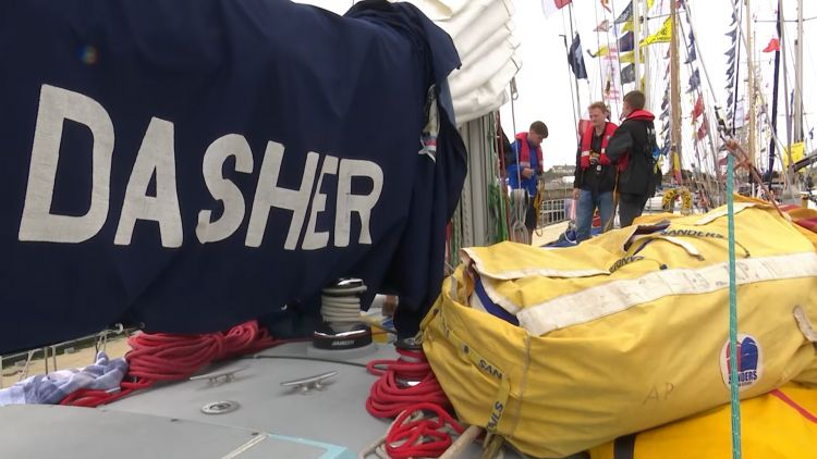 Army sailing team's boat 'Dasher' for Tall Ships Race