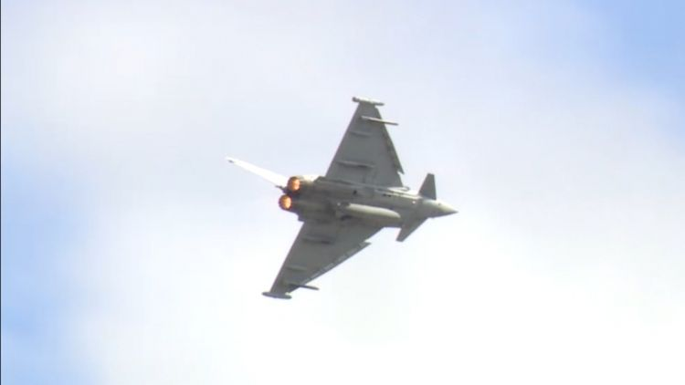 RAF Typhoon display at RIAT