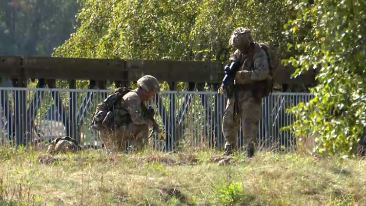 Soldiers from 32 Signal Regiment prepare for Exercise Northern Charge in Germany