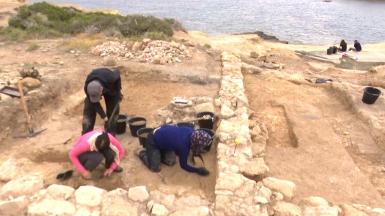 Archaeologist explore site of ancient Roman port at RAF Akrotiri in Cyprus