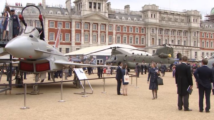 RAF100 display of aircraft