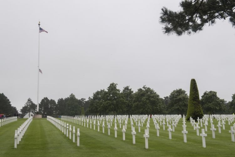Normandy American Cemetery at Omaha Beach France