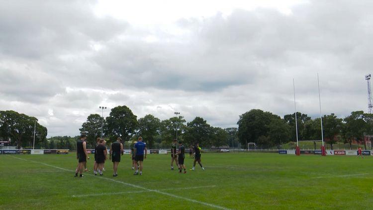 The youngsters used the Army's rugby pitch at Aldershot for their sessions.