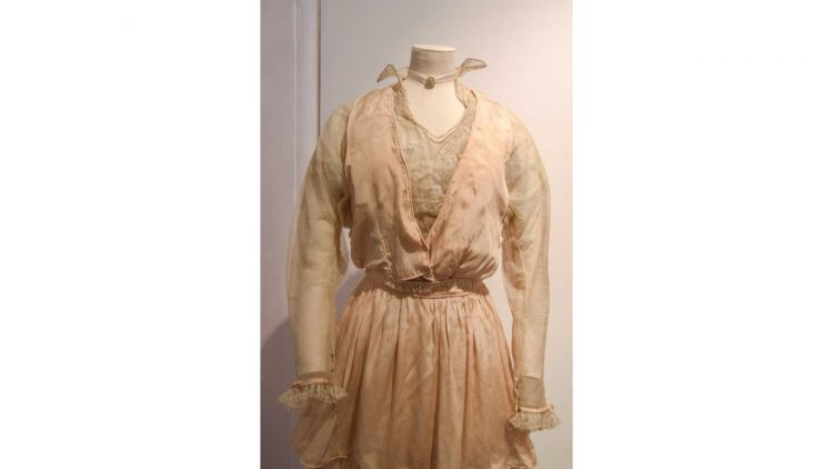The oldest dress belonged to Kathleen Sutcliffe who married in 1915 (Picture: Fusilier Museum).