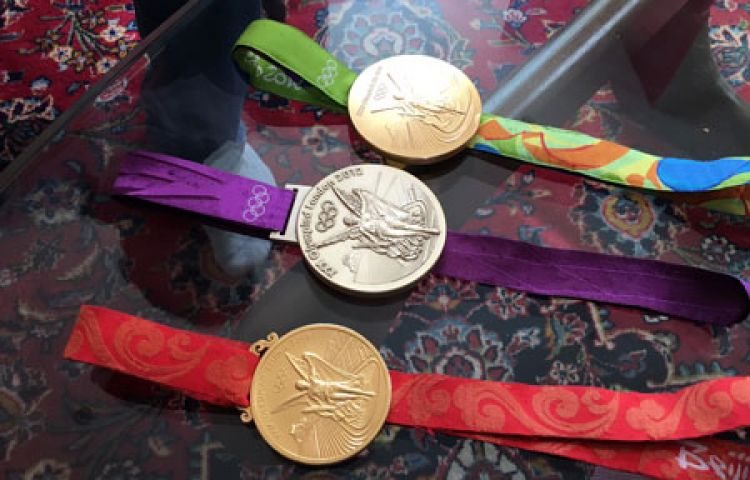 Pete Reed's Olympic Gold Medals