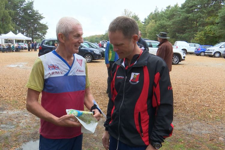 Major (Retired) Colin Dickson is considered a mainstay of the orienteering in Army circles.