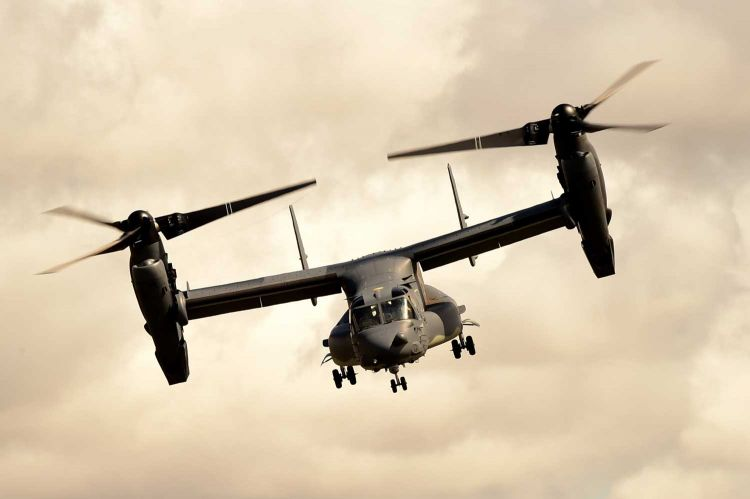 A United States Air Force Osprey (Picture: US Department of Defense).
