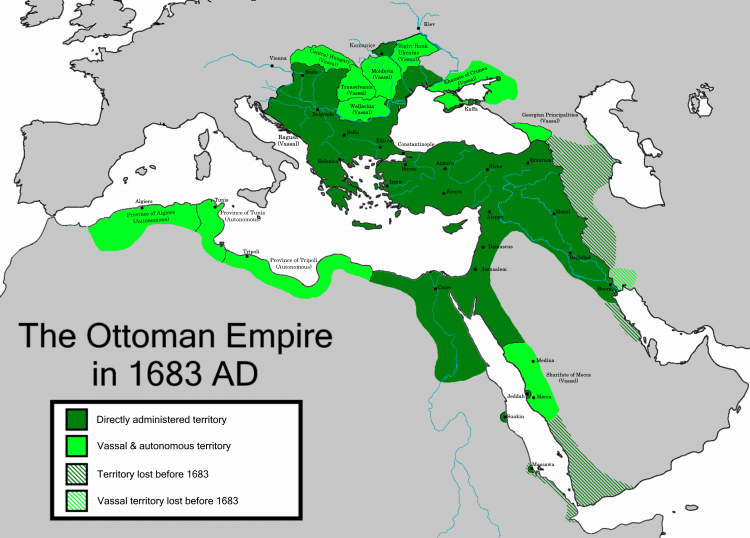 OttomanEmpire in 1683 by Chamboz