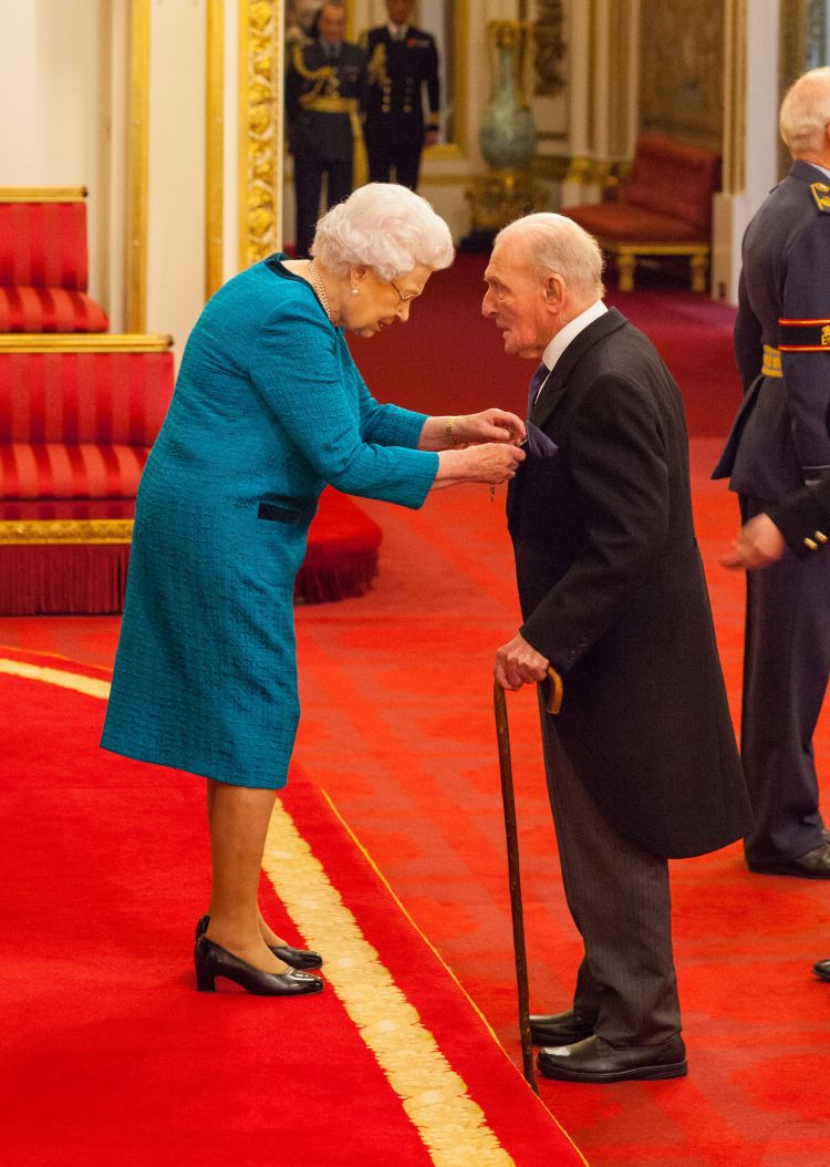 Squadron Leader George Leonard 'Johnny' Johnson from Bristol is made an MBE