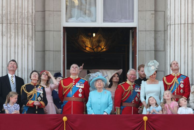 Duke of York and Royal Family Watch Trooping The Colour