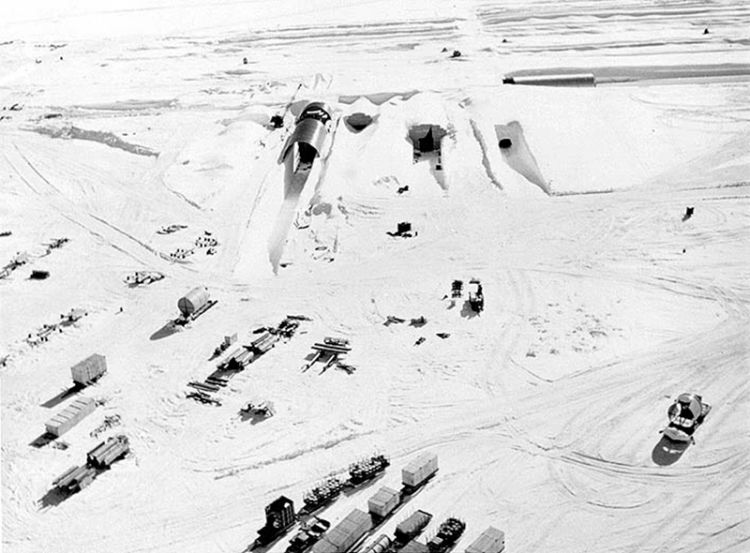 A US military base built under the Greenland ice sheet is being exposed as ice melts