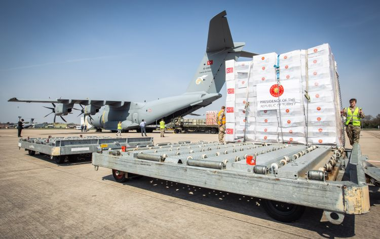PPE equipment from Turkey arrives at RAF Brize Norton for Coronavirus 100420 CREDIT MOD.jpg