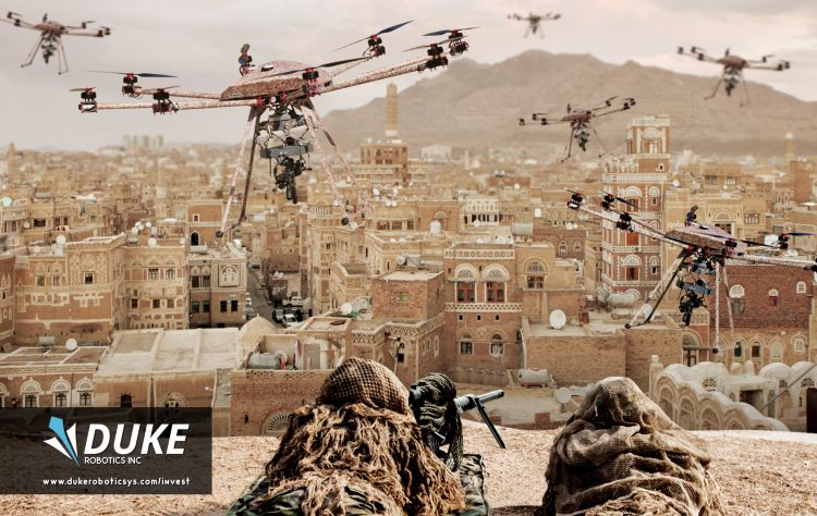 Drones could be used in conjunction with human soldiers