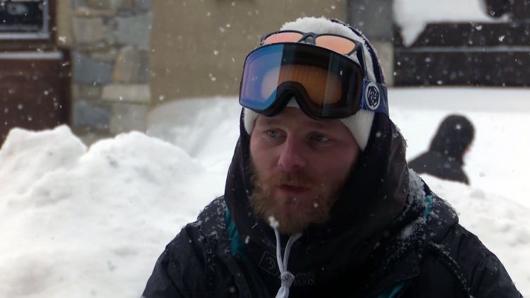 Paralympic amputee snowboarder Owen Pick