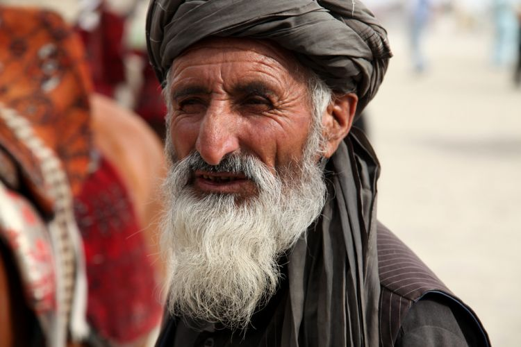 Pashtun man in Kabul by Jeremy Weate