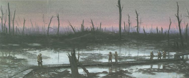 A depiction of Passchendaele (image from 'World War I' by Ken Hills