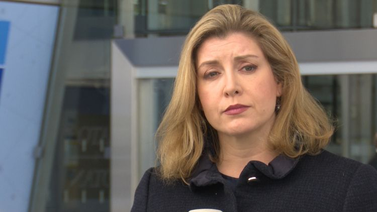 Penny Mordaunt at first nato meeting Credit BFBS 260619