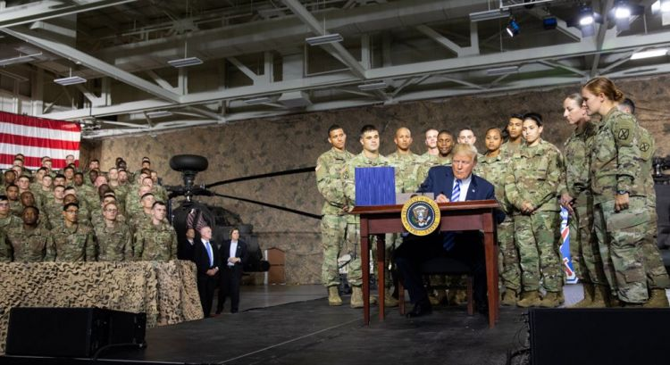 resident Trump Signs $717 Billion Defence Bill CREDIT WHITE HOUSE