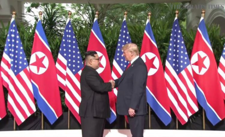 "President Trump said he has an ""excellent relationship"" with Mr Kim (Picture: PA)."
