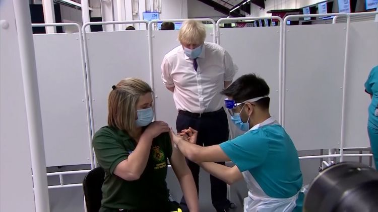 Prime Minister Boris Johnson visit Bristol mass vaccination centre 110121 CREDIT POOL.jpg