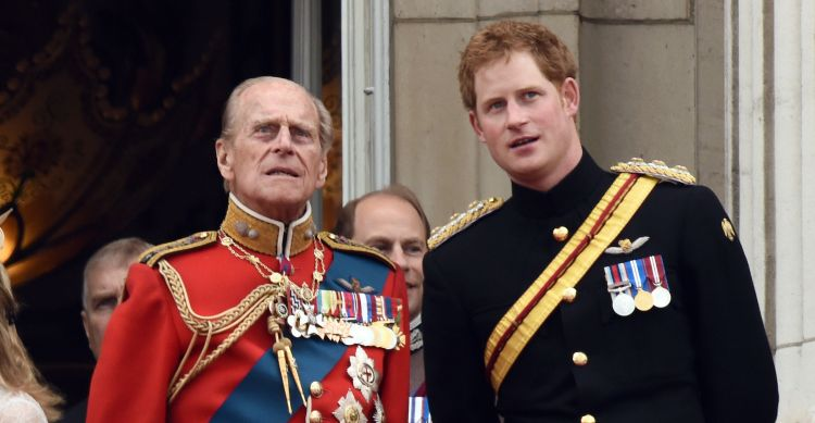 Prince Harry and Duke of Edinburgh
