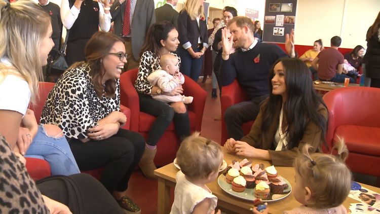 Prince Harry and Meghan speak to Army wives 071119 CREDIT BFBS.jpg