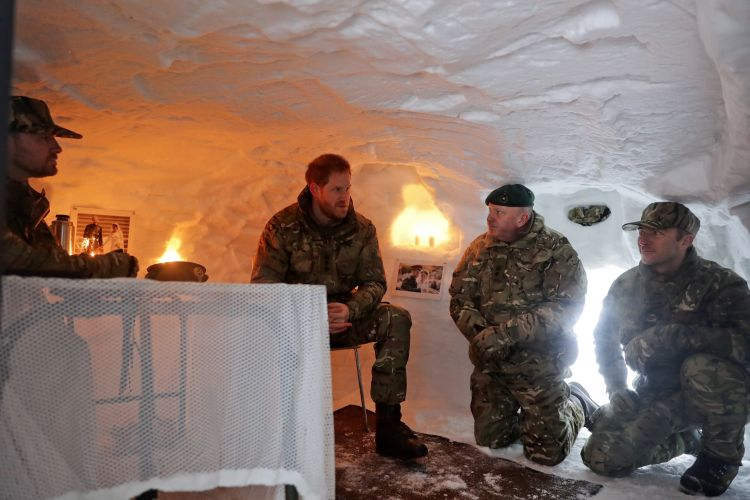 Prince Harry in Norway 140219 CREDIT Royal Navy