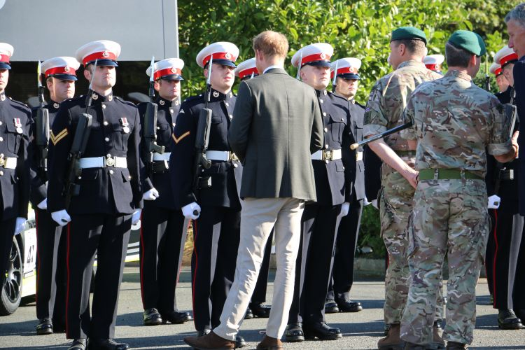 Prince Harry meeting Royal Marines Recruits 130918