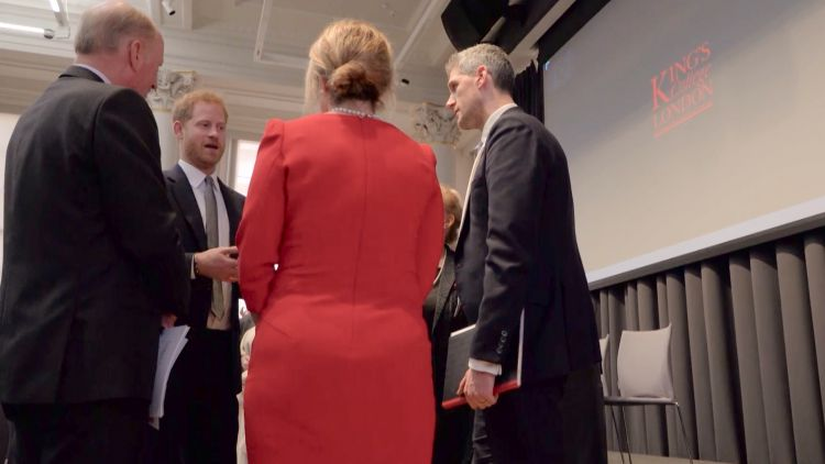 Prince Harry meets guests at Veterans Mental Health Conference