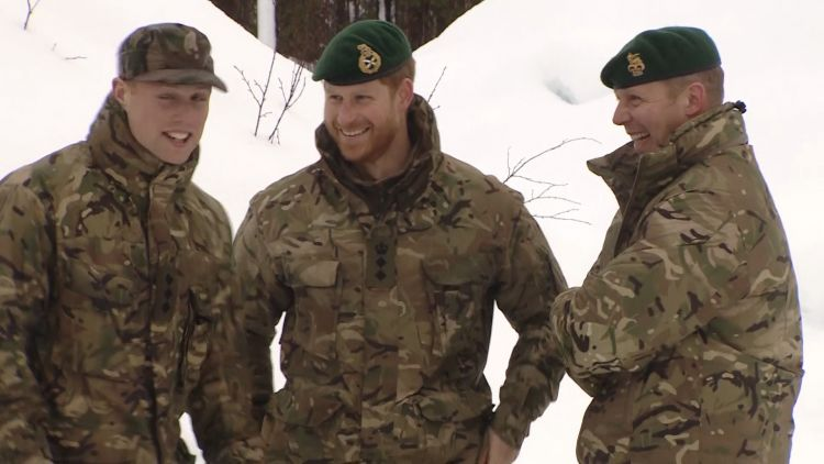Prince Harry with Royal Marines in Norway.