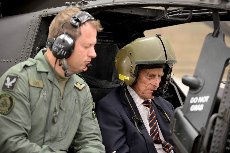 Prince Philip in cockpit Oct 2014