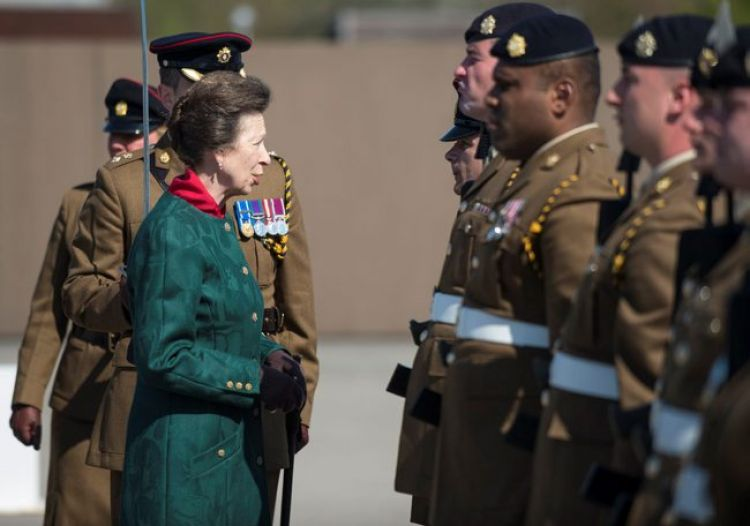 Princess Anne celebrates Royal Logistic Corps' 25th Anniversary