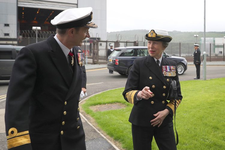 Princess Anne arrives at HM Naval Base Clyde 050719 CREDIT Royal Navy.jpg