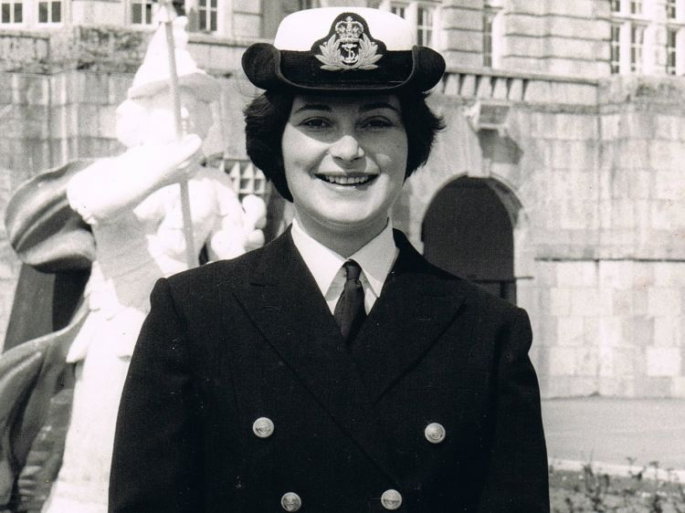 Penny Melville-Brown as a young Naval officer