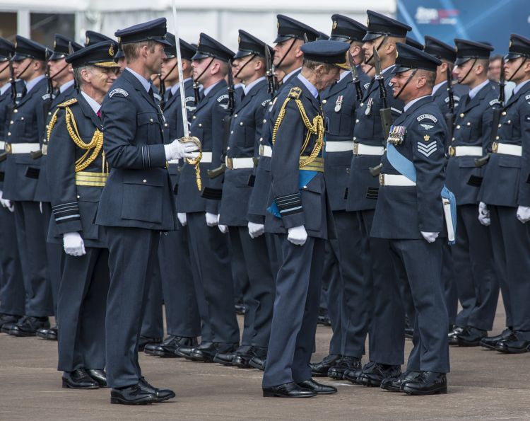 QRC parade RAF Fairford CREDIT crown copyright