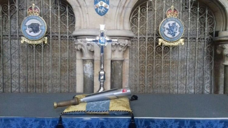 RAF 100 Baton Lincoln Cathedral