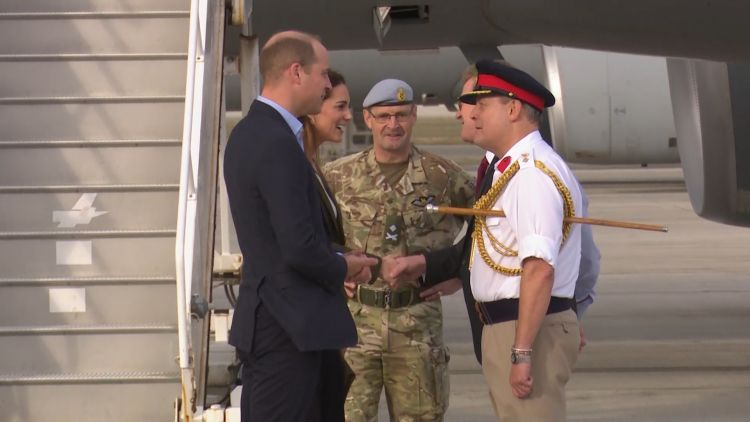 Duke And Duchess Of Cambridge Visit RAF Akrotiri
