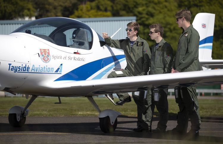The cadets will learn to fly in the newly-named planes (Picture: RAF).