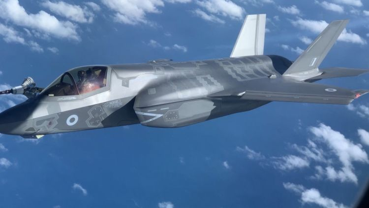 An RAF F-35B refueling during Exercise Joint Warrior last week.