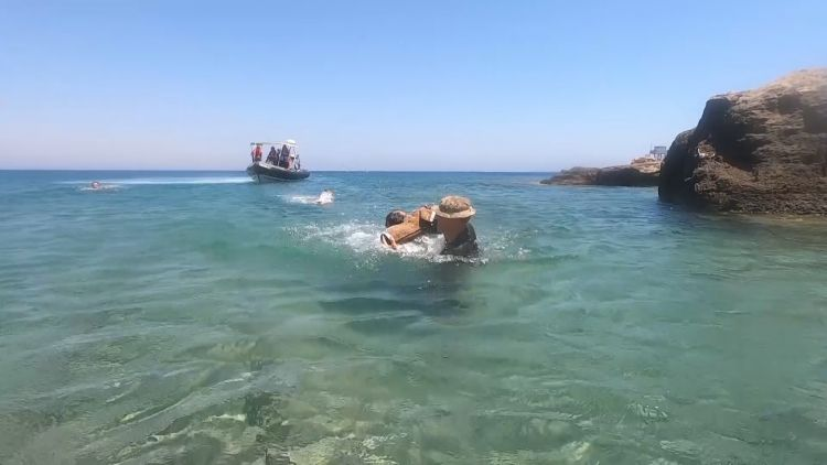 RAF Police dog during sea to shore training in Cyprus 280720 CREDIT BFBS.jpg