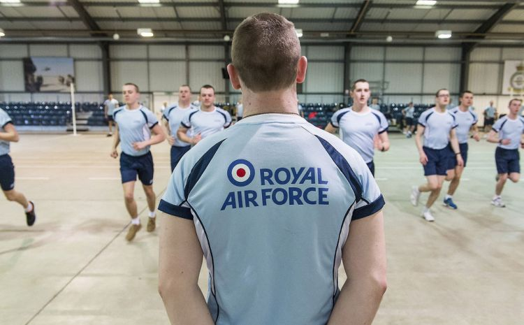 RAF recruits' fitness test