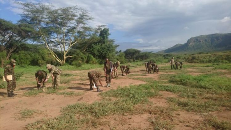 RAF Regt training Kenyan army in tracking
