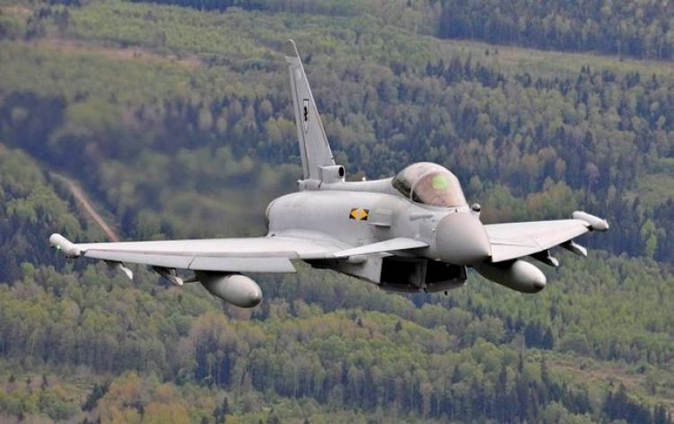 RAF Typhoon jet on exercise in Lithuania