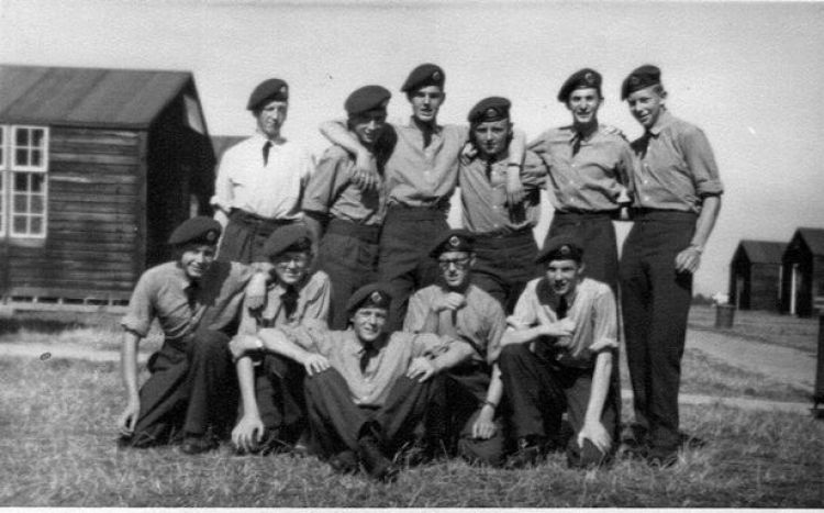 The unit in 1961 with John in the back row, far left.