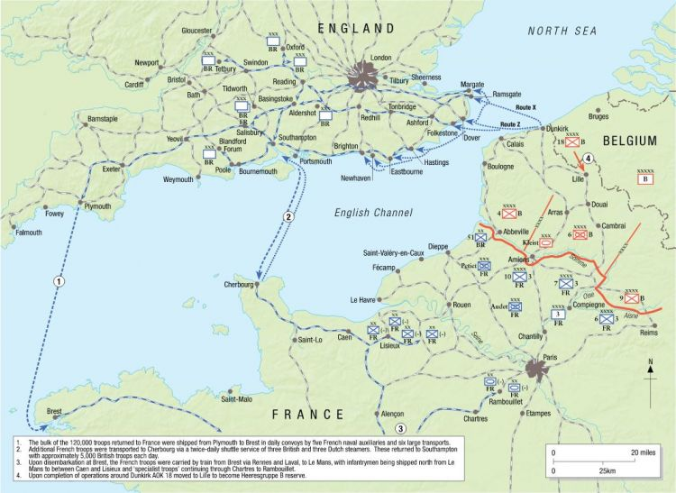 Reconstitution and Redeployment of British and French forces