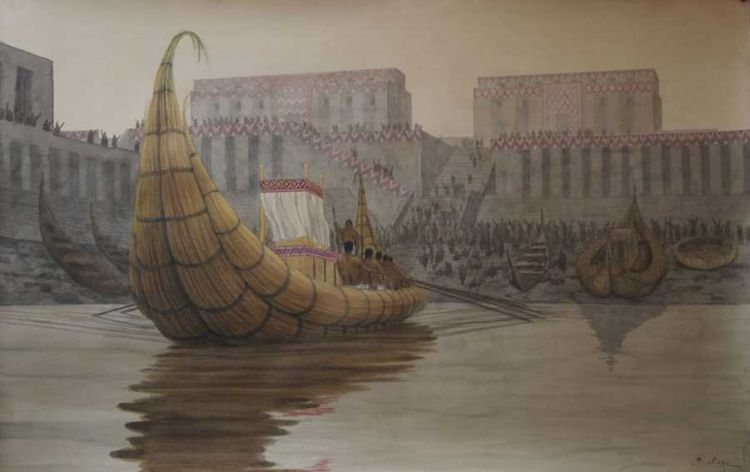 Recreation of the port of Eridu
