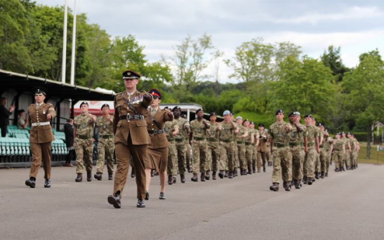 Recruits at ATR Winchester pass out for first time since coronavirus lockdown 050620 CREDIT BRITISH ARMY